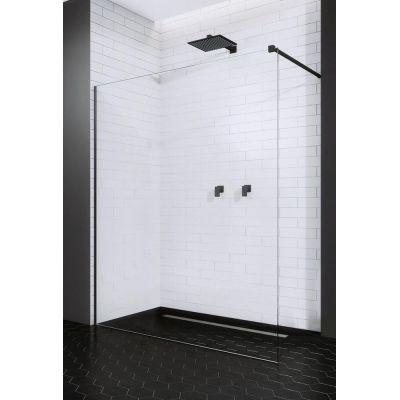 Radaway Modo X Black II Walk-In ścianka prysznicowa 80 cm wolnostojąca czarny/szkło przezroczyste 389284-54-01
