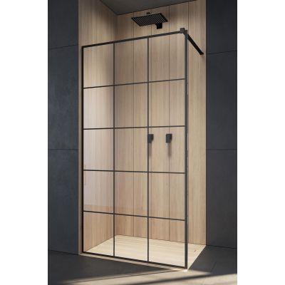 Radaway Modo X Black II Factory ścianka prysznicowa 105 cm wolnostojąca 389305-54-55