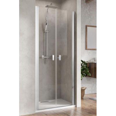 Radaway Nes DWD I drzwi prysznicowe dwudrzwiowe 100 cm wnękowe szkło przezroczyste 10027100-01-01