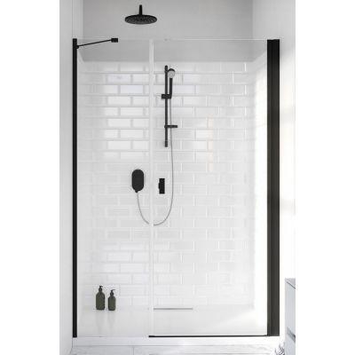 Radaway Nes Black DWS drzwi prysznicowe 140 cm wnękowe prawe szkło przezroczyste 10028140-54-01R