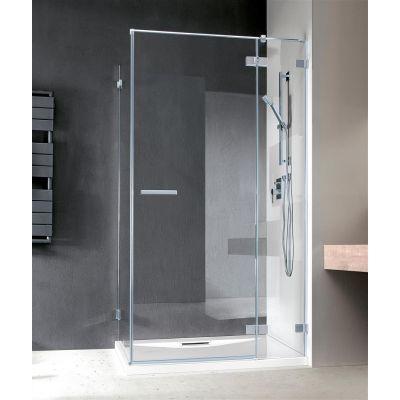 Radaway Euphoria KDJ drzwi prysznicowe 120 cm prawe ze ścianką krótką szkło przezroczyste 383812-01R/383240-01R