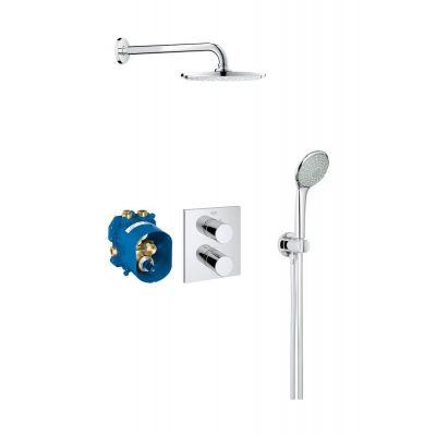 Grohe Grohtherm 3000 Cosmopolitan zestaw prysznicowy podtynkowy termostatyczny z deszczownicą chrom 34408000