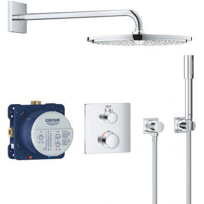Grohe Grohtherm zestaw prysznicowy podtynkowy termostatyczny chrom 34730000