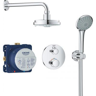 Grohe Grohtherm zestaw prysznicowy podtynkowy termostatyczny chrom 34735000