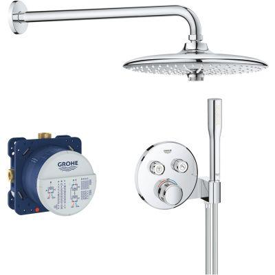 Grohe Grohtherm SmartControl zestaw prysznicowy podtynkowy termostatyczny z deszczownicą chrom 34744000