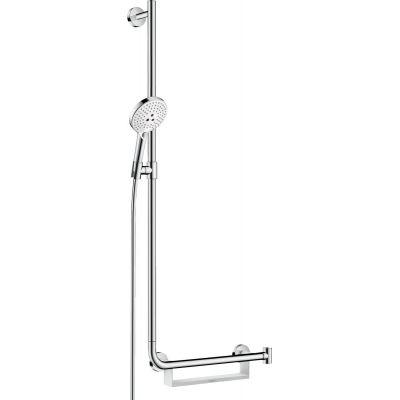 Hansgrohe Raindance Select S zestaw prysznicowy ścienny lewy biały/chrom 26324400
