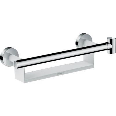 Hansgrohe Unica Comfort drążek z półką i uchwytem prysznicowym chrom/biały 26328400