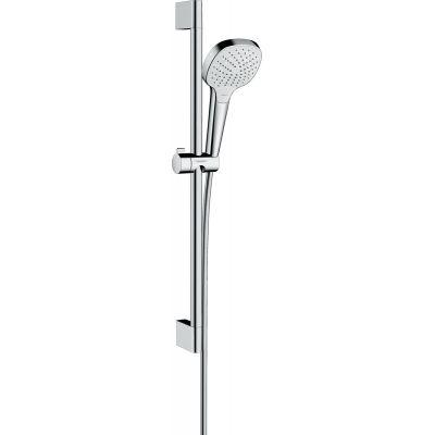 Hansgrohe Croma Select E zestaw prysznicowy ścienny biały/chrom 26582400