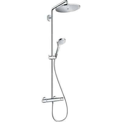 Hansgrohe Croma Select S Showerpipe zestaw prysznicowy ścienny termostatyczny chrom 26790000