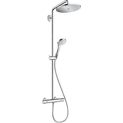 Hansgrohe Croma Select S Showerpipe EcoSmart zestaw prysznicowy ścienny termostatyczny chrom 26794000