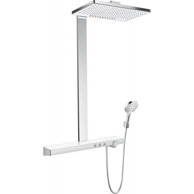 Hansgrohe Rainmaker Select Showerpipe EcoSmart zestaw prysznicowy ścienny termostatyczny biały/chrom 27028400