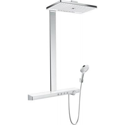 Hansgrohe Rainmaker Select Showerpipe EcoSmart zestaw prysznicowy ścienny termostatyczny biały/chrom 27029400