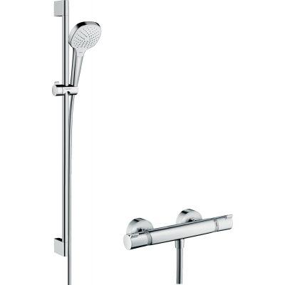 Hansgrohe Croma Select E zestaw prysznicowy ścienny termostatyczny biały/chrom 27082400