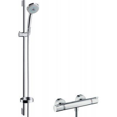 Hansgrohe Croma 100 zestaw prysznicowy ścienny termostatyczny chrom 27085000