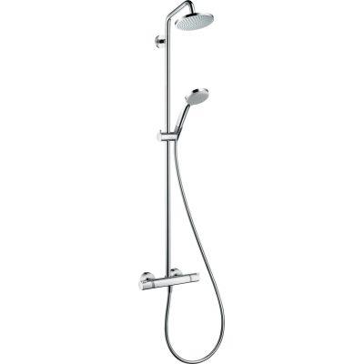 Hansgrohe Croma 160  Showerpipe zestaw prysznicowy ścienny termostatyczny chrom 27135000