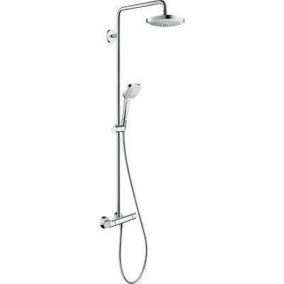 Hansgrohe Croma Select E Showerpipe EcoSmart zestaw prysznicowy ścienny termostatyczny biały/chrom 27257400