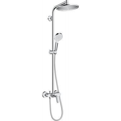 Hansgrohe Crometta S Showerpipe zestaw prysznicowy ścienny chrom  27269000
