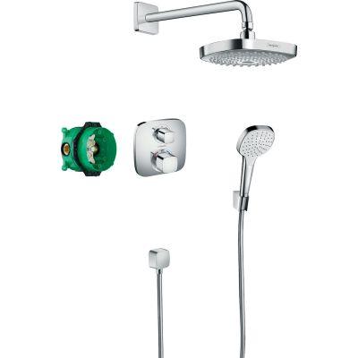 Hansgrohe Croma Select E zestaw prysznicowy podtynkowy termostatyczny chrom 27294000