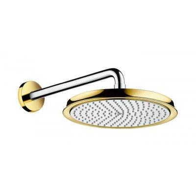 Hansgrohe Raindance Classic deszczownica 24 cm okrągła z ramieniem prysznicowym chrom/złoty 27424090