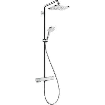 Hansgrohe Croma E zestaw prysznicowy termostatyczny z deszczownicą chrom 27630000