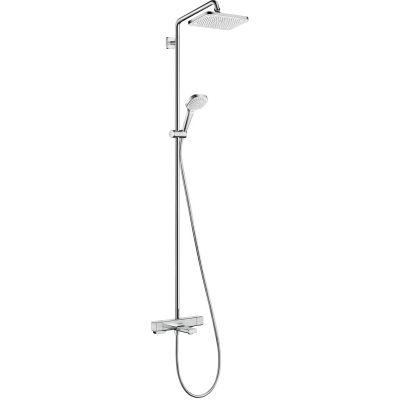 Hansgrohe Croma E zestaw wannowo-prysznicowy termostatyczny z deszczownicą chrom 27687000