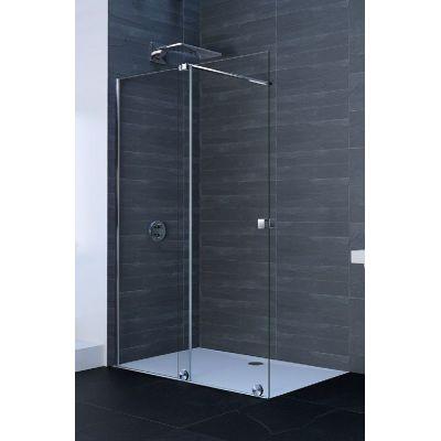 Hüppe Xtensa Pure 4-kąt drzwi prysznicowe 140 cm lewe srebrny połysk/szkło przezroczyste Anti-Plaque XT0105.069.322
