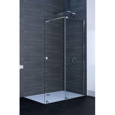 Hüppe Xtensa Pure 4-kąt drzwi prysznicowe 140 cm prawe srebrny połysk/szkło przezroczyste Anti-Plaque XT0205.069.322