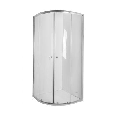 Invena Vitoria kabina prysznicowa 90x90 cm półokrągła szkło czyste AK-49-195