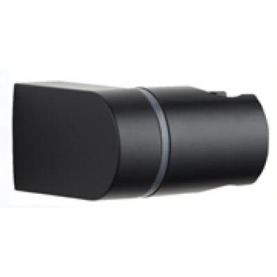 Invena uchwyt prysznicowy ścienny czarny AU-00-P04