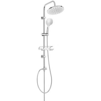 Invena Corso zestaw prysznicowy ścienny z deszczownicą chrom AU-23-001