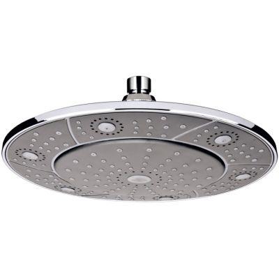 Invena Socho deszczownica 24 cm okrągła chrom/szary SC-D1-002