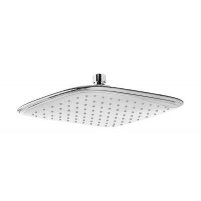 Invena Dokos deszczownica prostokątna 25x19 cm chrom/biały SC-D1-028