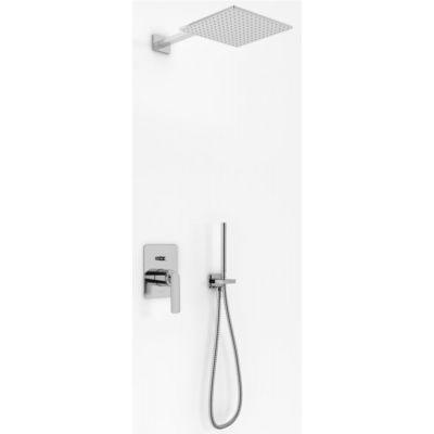 Kohlman Experience zestaw prysznicowy podtynkowy z deszczownicą 30 cm chrom QW210EQ30