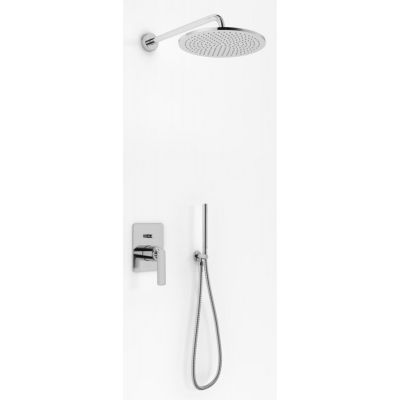 Kohlman Experience zestaw prysznicowy podtynkowy z deszczownicą 30 cm chrom QW210ER30