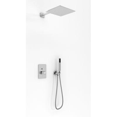 Kohlman Lexis zestaw prysznicowy podtynkowy z deszczownicą 25 cm chrom QW210LQ25