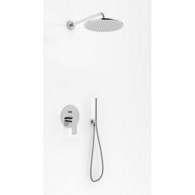Kohlman Proxima zestaw prysznicowy podtynkowy z deszczownicą 30 cm chrom QW210PR30