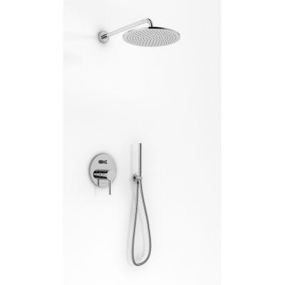 Kohlman Roxin zestaw prysznicowy podtynkowy z deszczownicą 30 cm chrom QW210RR30