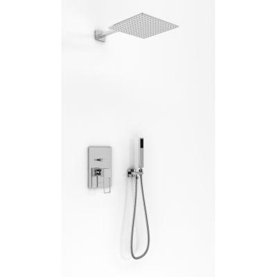 Kohlman Nexen zestaw prysznicowy podtynkowy z deszczownicą 30 cm chrom QW210UQ30