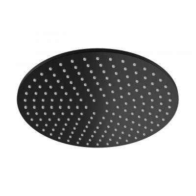 Kohlman Experience Black /Roxin Black deszczownica 25 cm okrągła czarny mat R25EB