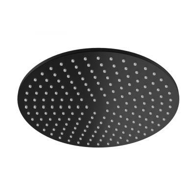 Kohlman Experience Black deszczownica 30 cm okrągła czarny mat R30EB