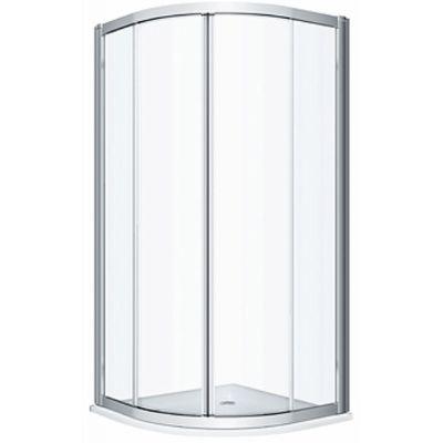 Koło Geo kabina prysznicowa 80x80 cm półokrągła szkło przezroczyste 560.110.00.3