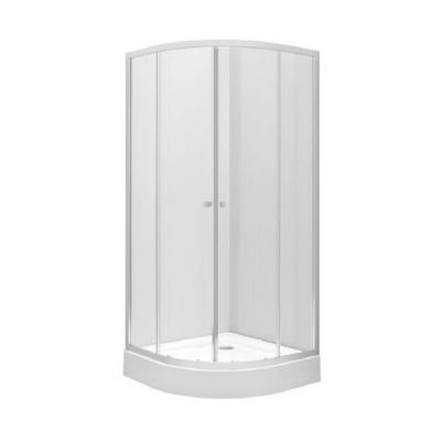 Koło First kabina półokrągła 80 cm szkło satyna ZKPG80214003