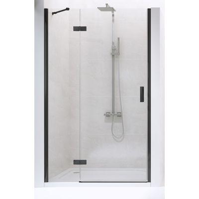 New Trendy New Renoma Black drzwi prysznicowe 80 cm lewe szkło przezroczyste D-0193A