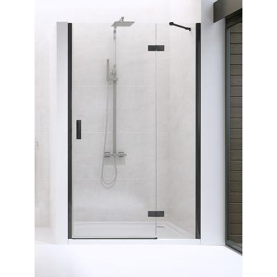 New Trendy New Renoma Black drzwi prysznicowe 120 cm prawe szkło przezroczyste D-0200A