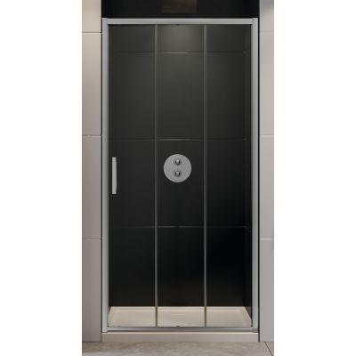 New Trendy Alta III drzwi prysznicowe 80 cm wnękowe szkło przezroczyste D-0252A