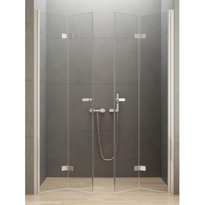 New Trendy New Soleo drzwi prysznicowe 150 cm wnękowe szkło przezroczyste D-0259A