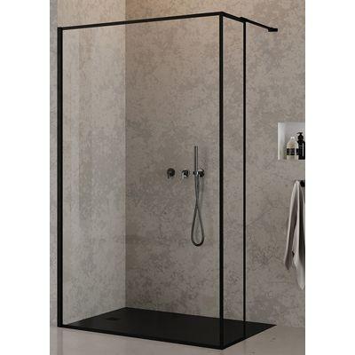 New Trendy New Modus Black ścianka prysznicowa Walk-In 30 cm boczna szkło przezroczyste EXK-0256