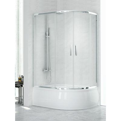 New Trendy New Maxima kabina prysznicowa 100x80 cm półokrągła szkło przezroczyste K-0299