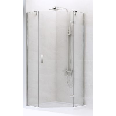New Trendy New Azura kabina prysznicowa 80x80 cm pięciokątna prawa szkło przezroczyste K-0560