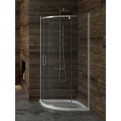 New Trendy New Komfort kabina prysznicowa 90 cm półokrągła szkło przezroczyste K-0435